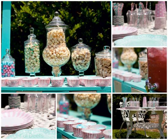 Aqua & Pink Snack Table dd