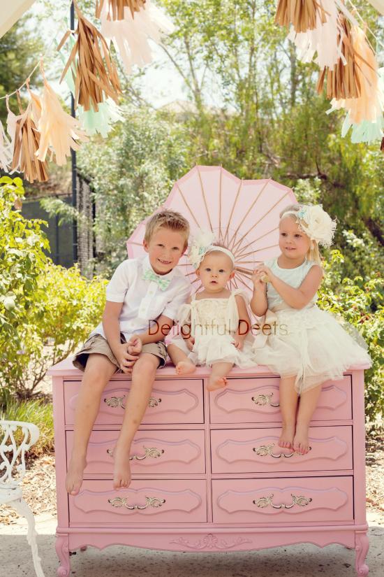 aqua, pink and cream party dd