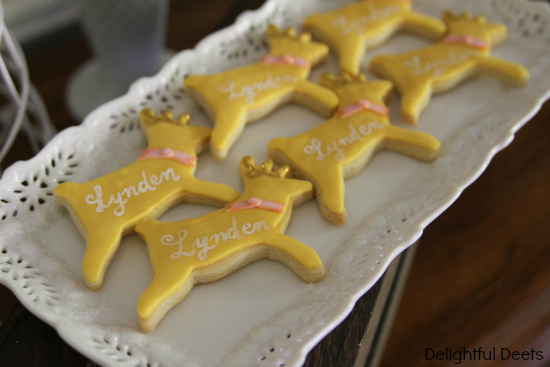 deer cookies - Gold, White, & Pink Deer Birthday Party by Utah lifestyle blogger By Jen Rose