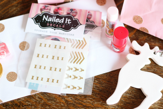 deer party favors - Gold, White, & Pink Deer Birthday Party by Utah lifestyle blogger By Jen Rose
