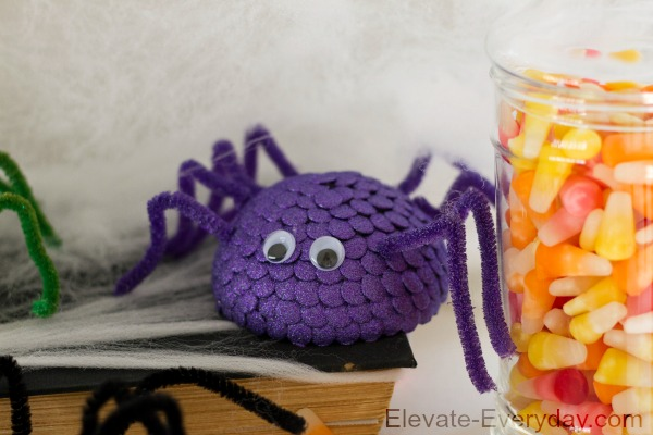 purple spooky spider