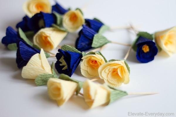 Mini Crepe Paper Flowers