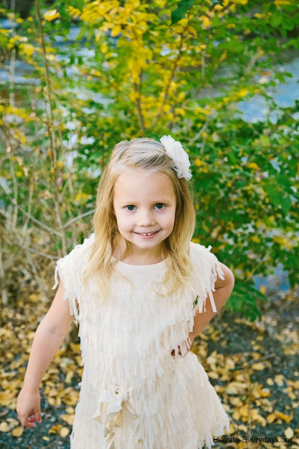 cream dress for pictures