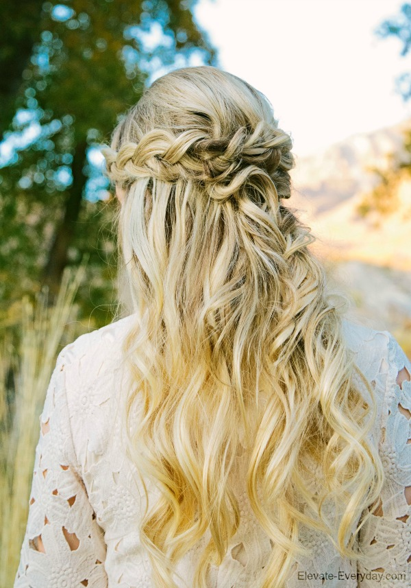 darling fishtail with braids