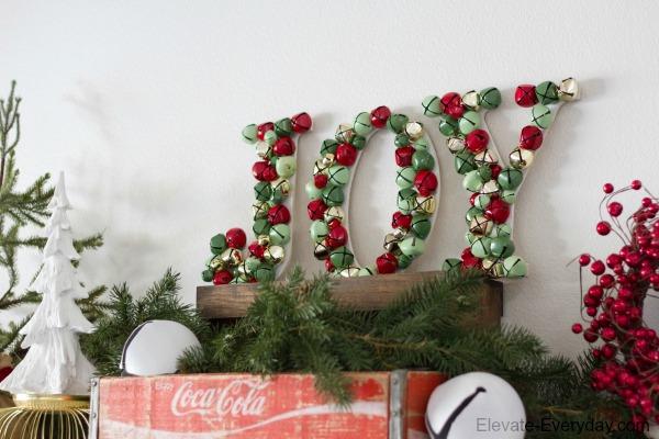 simple joy letter decoration
