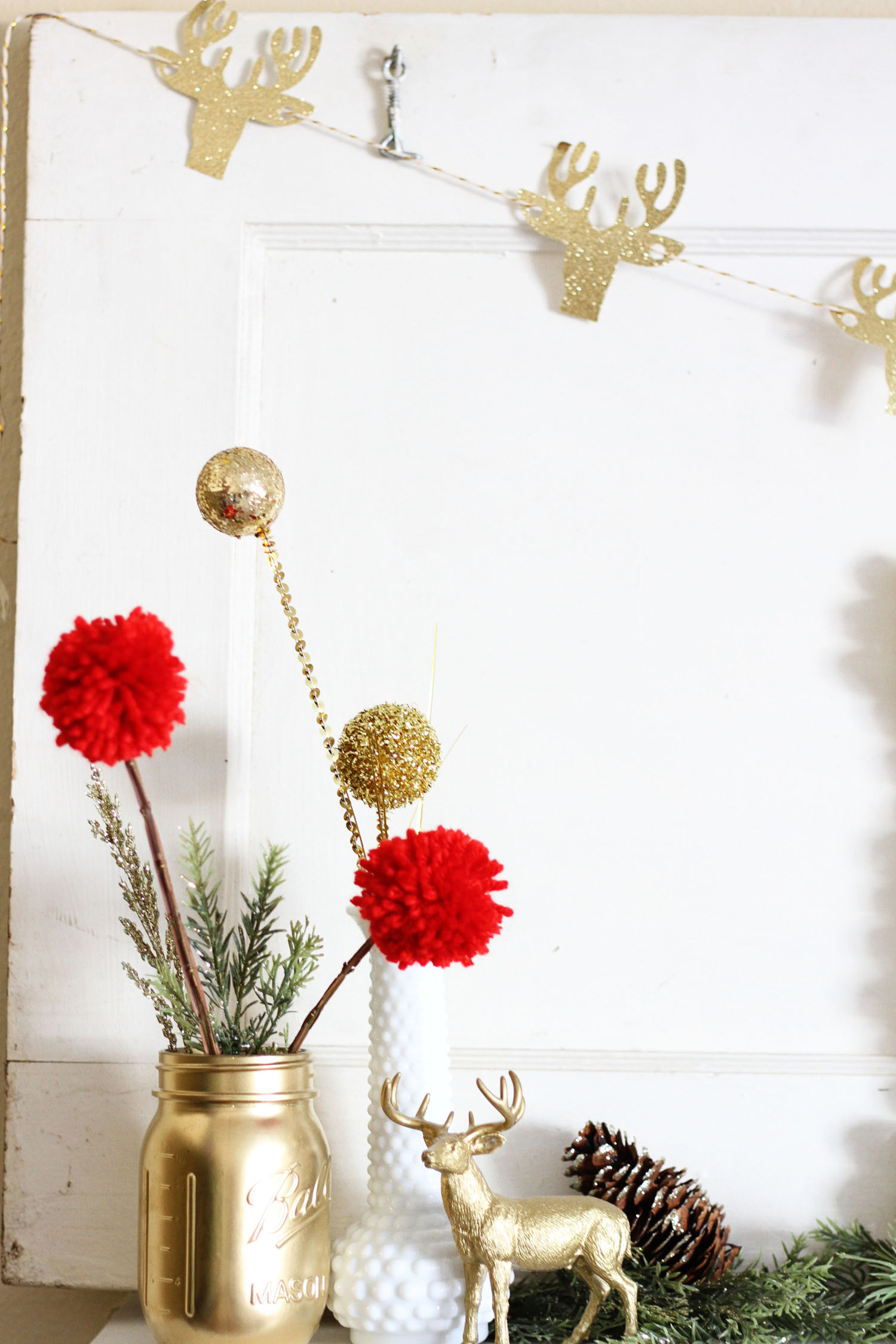 Festive Christmas Mantle Decor featured by Utah lifestyle blog, By Jen Rose