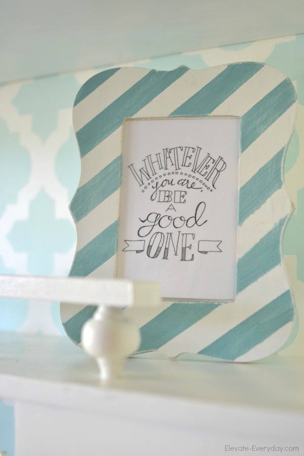 frame whatever you are be a good one - Vintage Hutch Makeover by Utah lifestyle blogger By Jen Rose