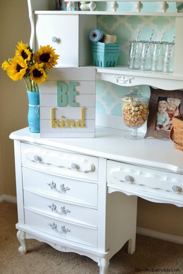 furniture desk redo - Vintage Hutch Makeover by Utah lifestyle blogger By Jen Rose