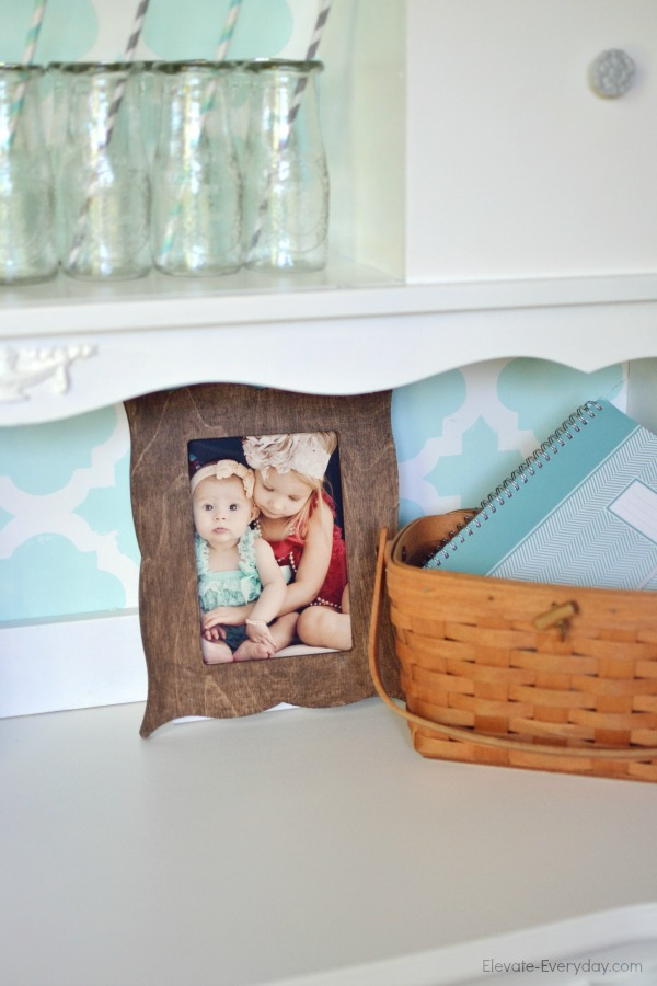 vintage desk redo with cutting edge stencils - Vintage Hutch Makeover by Utah lifestyle blogger By Jen Rose