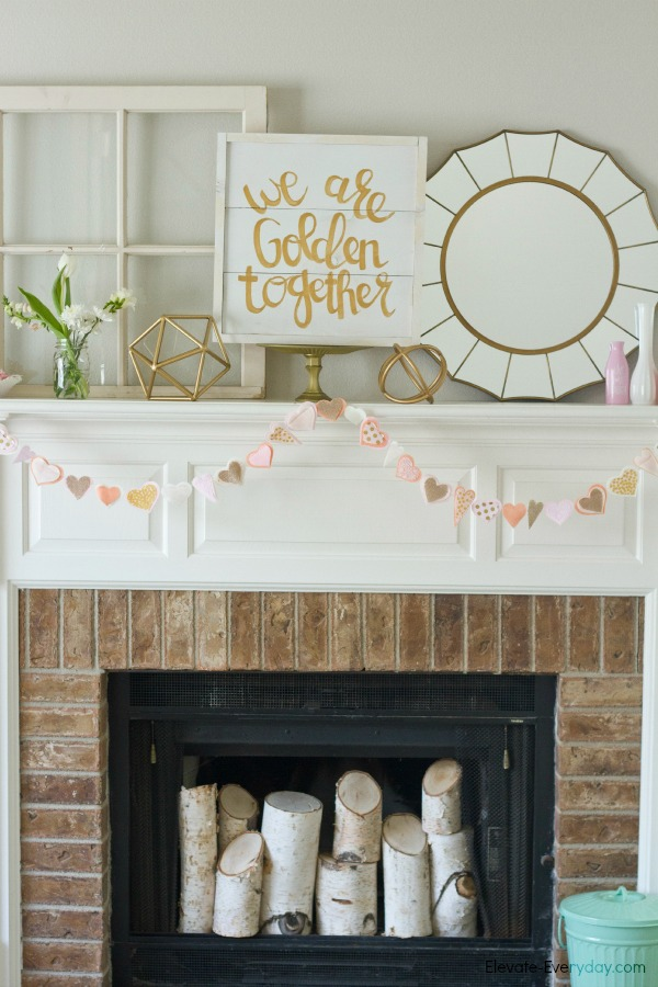 Valentine's Day Mantle with Salty Bison & Aidie's Hideaway by Utah lifestyle blogger By Jen Rose