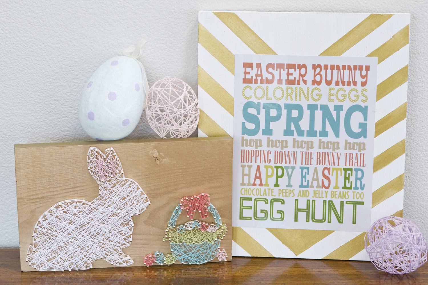 Easter Bunny String Art by popular Utah lifestyle blogger By Jen Rose