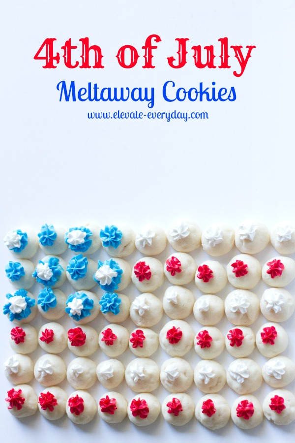 Meltaway Cookies for 4th of July