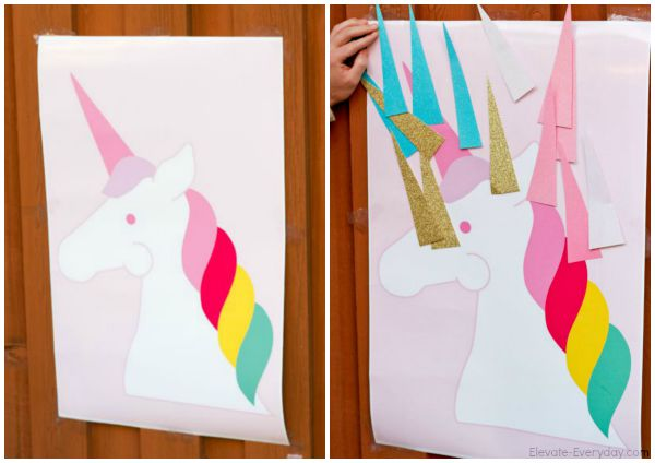 Pin the horn on the unicorn - Unicorn Birthday Party by Utah mom blogger By Jen Rose