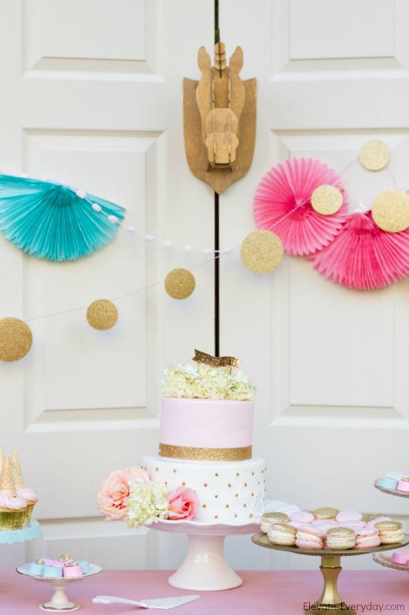 darling unicorn party - Unicorn Birthday Party by Utah mom blogger By Jen Rose