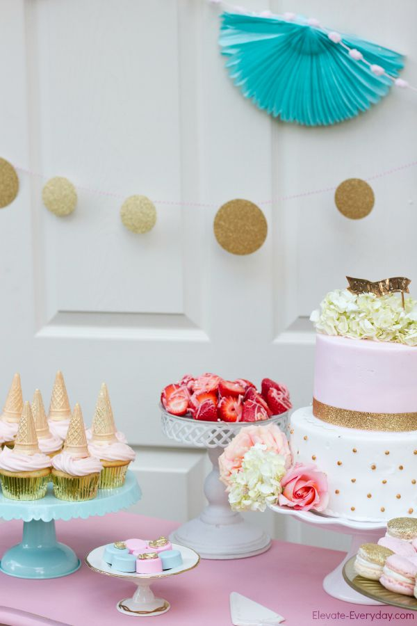 dessert table idea - Unicorn Birthday Party by Utah mom blogger By Jen Rose