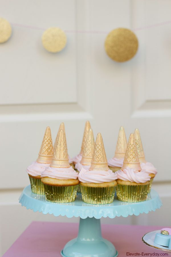 unicorn cupcakes - Unicorn Birthday Party by Utah mom blogger By Jen Rose