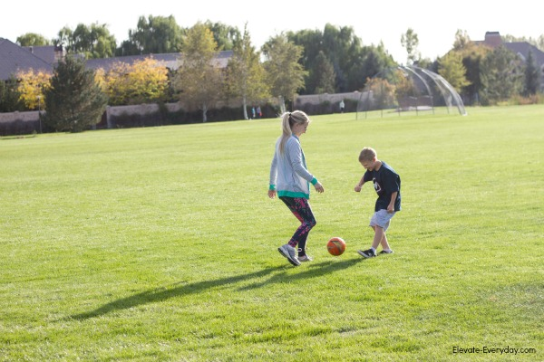 playing soccer - Get Going with Zeal & Acai Bowl Recipe by Utah lifestyle blogger By Jen Rose