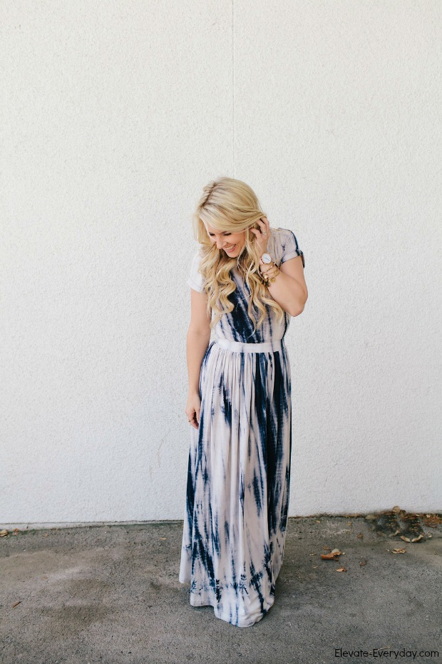 Tie Die Maxi Dress