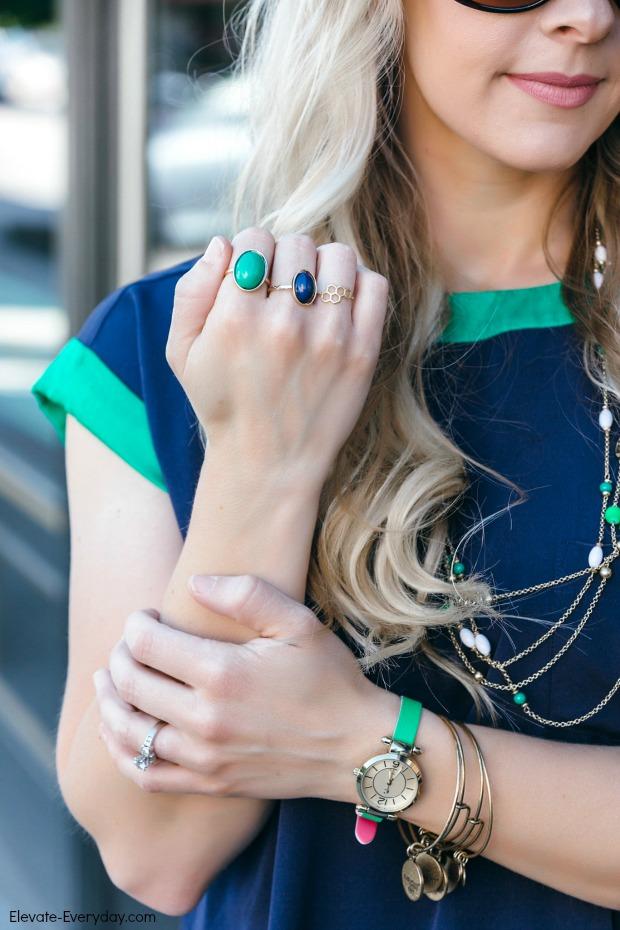Navy & Emerald Accessories