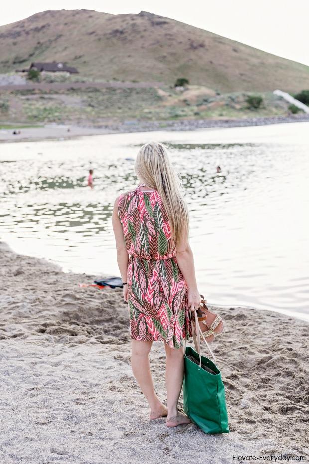 Pink & Green Summer Dress