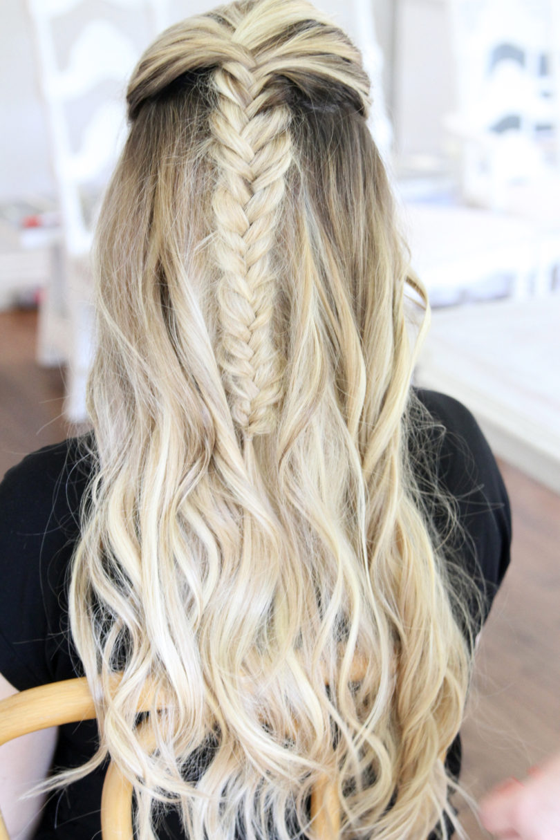 Messy Fishtail Braid Tutorial by Utah style blogger By Jen Rose