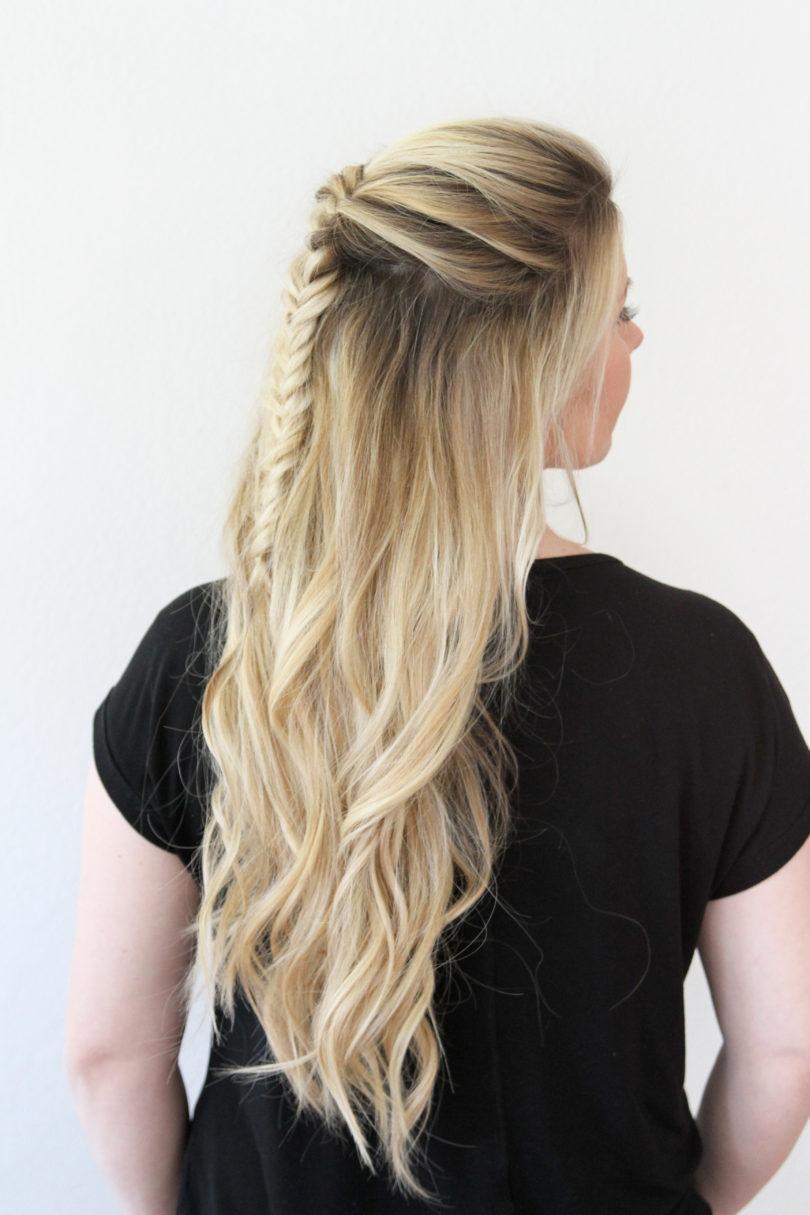 messy fishtail braid tutorial