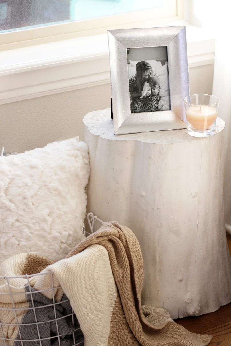 DIY Wooden Stump Table by Utah style blogger By Jen Rose