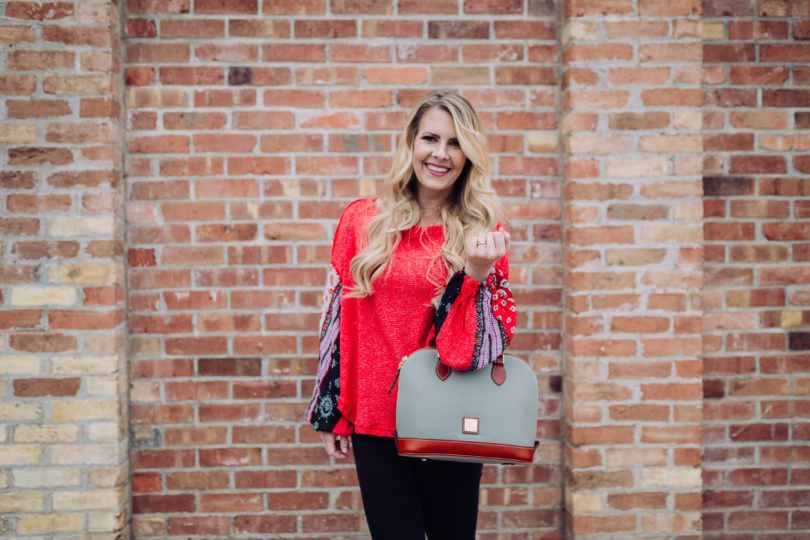 Dooney and Bourke Satchel by popular Utah style blogger By Jen Rose