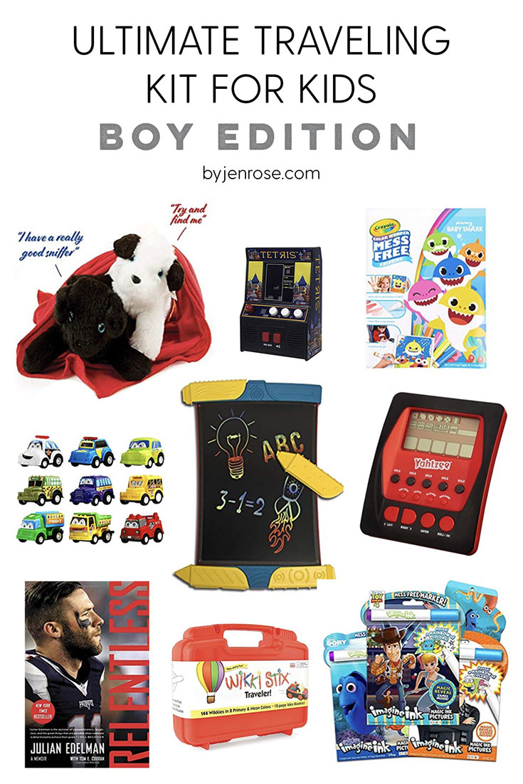 The Ultimate Children's Travel Activity Pack featured by US life and style blogger, By Jen Rose: pack for boys
