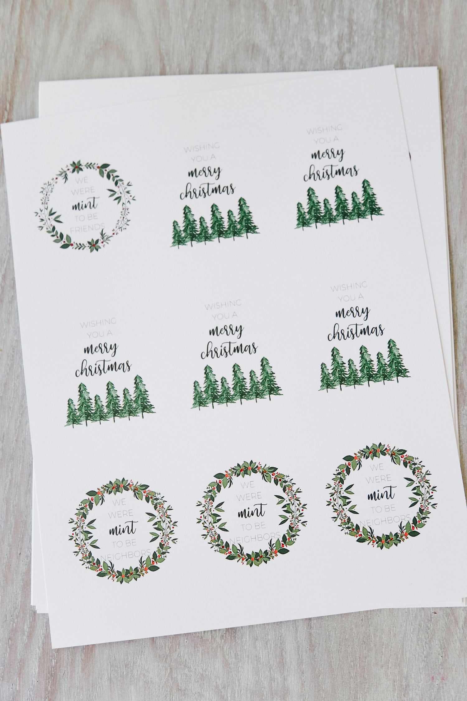 FREE Christmas printable featured by US lifestyle blogger, By Jen Rose